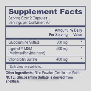 Chondroitin, MSM, Glucosamine