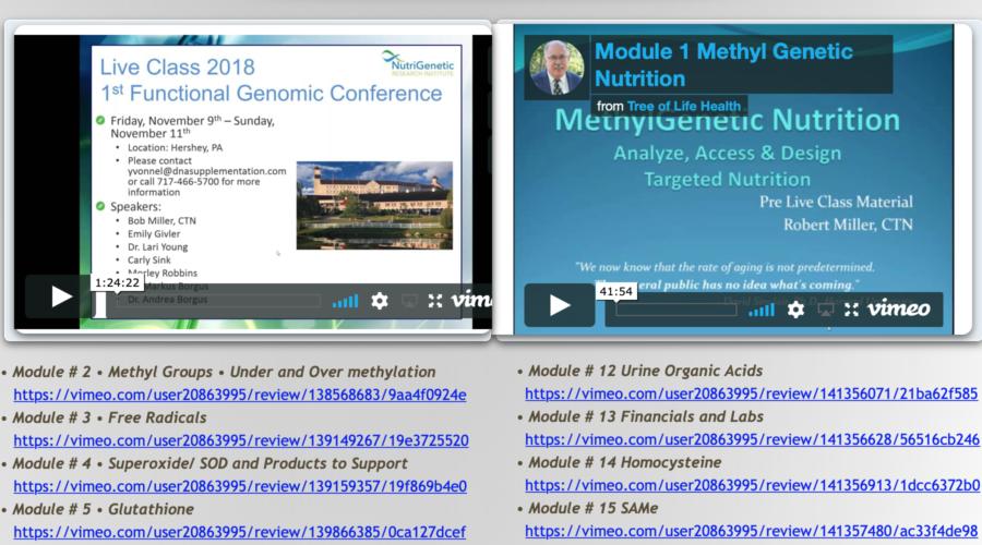 MethylGenetic Pre-Class Modules